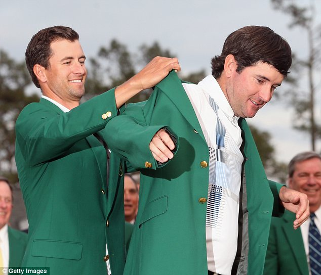 On his way: Bubba Watson is a certainty for the plane for Gleneagles following his second Masters success