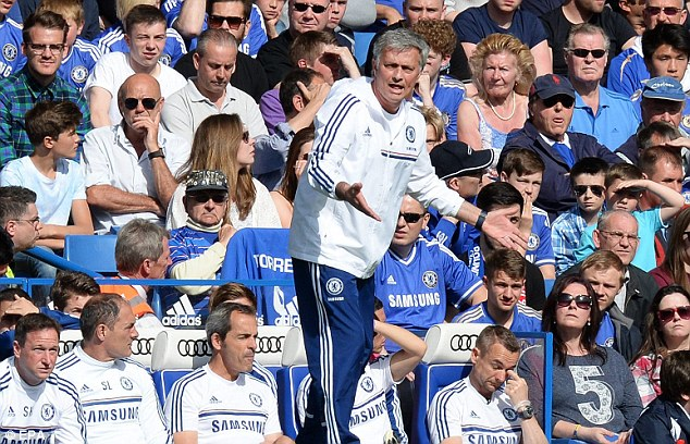 Trophy-less: Mourinho has failed to win any silverware in his first season back at Stamford Bridge