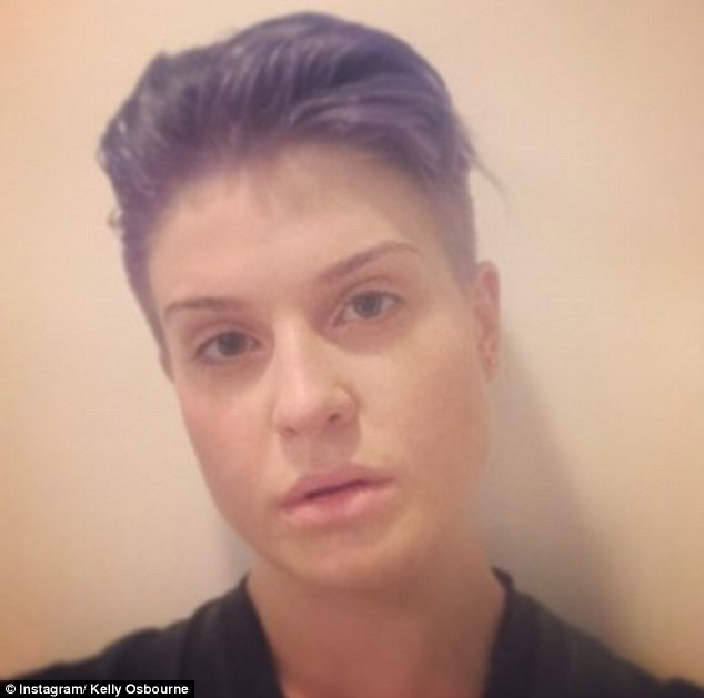 Make-up free: The 29-year-old has been documenting her hair journey with various posts on social media much to the delight of her fans