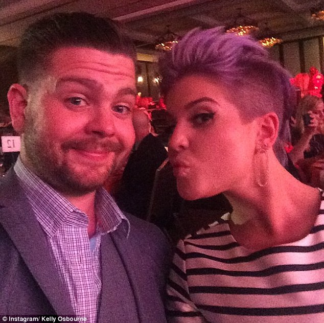 Love ya: The Fashion Police host asked fans whether they thought the pair could pass for twins now she has a shorter hairdo