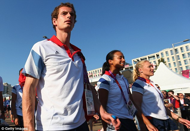 Side-by-side: Team GB's Baltacha at the Olympic Park in 2012 with Andy Murray and Anne Keothavong