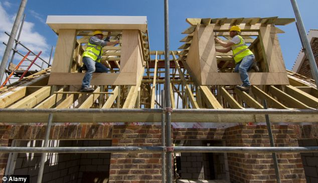 George Osborne indicated in the Budget there would be support for self-builders, saying £150million had been set aside to help the first wave of councils sell 10,000 plots (library image)