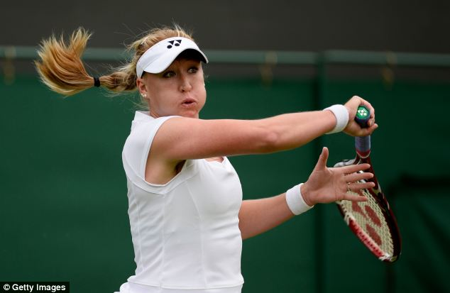 Tennis talent: The Ukrainian-born Scot has died at 30 weeks after marrying her coach, Nino Severino