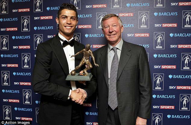 Double trouble: Cristiano Ronaldo won the award in consecutive seasons while at Manchester United