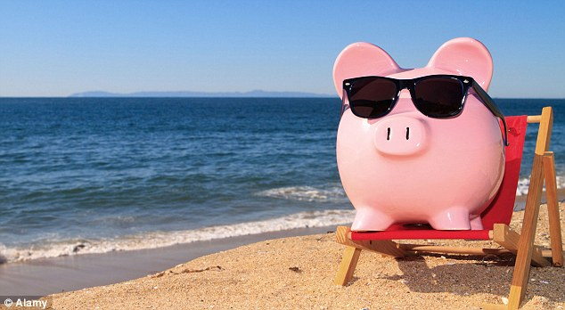 Taking a savings holiday: 31 per cent of respondents said they dipped into their savings to pay for a holiday