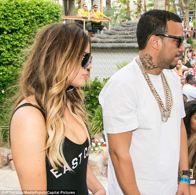 'The fact it's p***ing Khloé off that Lamar is holding out does give him some satisfaction': The pair didn't care who saw them as they attended the Floyd Mayweather Jr versus Marcos Maidana boxing match on Saturday night, before hitting the Rehab pool party at the Hard Rock Hotel the following day