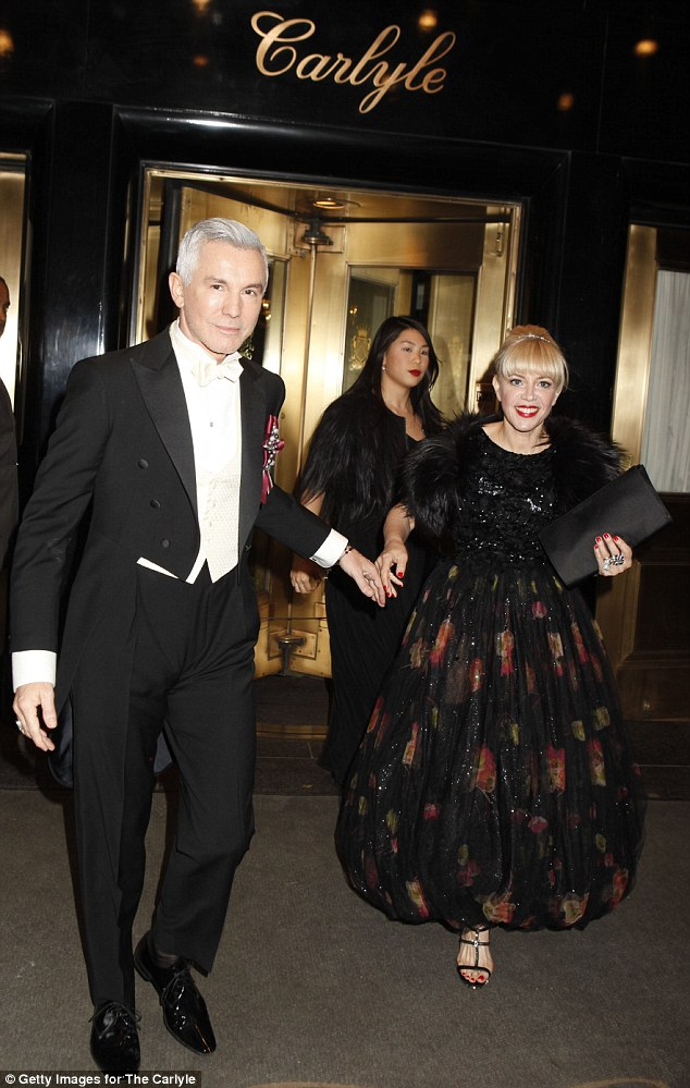 En route: The couple left The Carlyle as they headed to the annual Met Gala on Monday evening