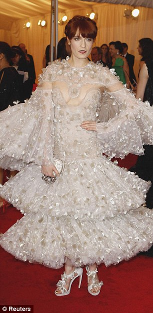Risk taker: Some of Florence's other bold red carpet outfits that made her a fashion standout