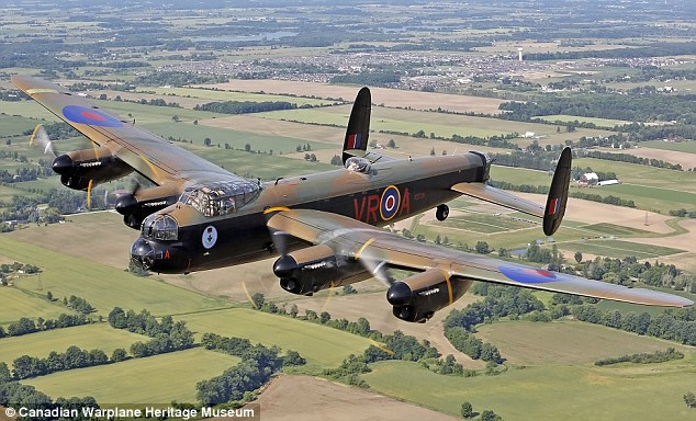Final flight: Munson will be on-board as this Lancaster makes its last journey from Canada to the UK