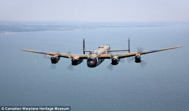 Unique opportunity: The passengers will fly alongside the most famous Allied bomber of the Second World War