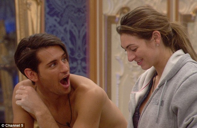 'Mildly risqué: CBB housemates Ollie Locke and Luisa Zissman were shown making rude shapes out of dough
