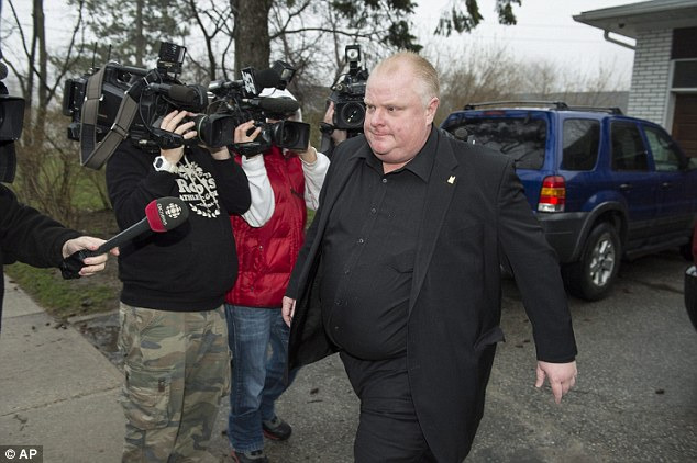 Where are you? Rob Ford is pictured above on May 1, a day after he announced his leave of absence. He has now spoken out about rehab, calling it the best thing he ever did