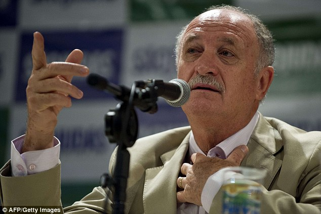 Getting in there early: Luiz Felipe Scolari will name his 23-man Brazil squad for the World Cup on Wednesday