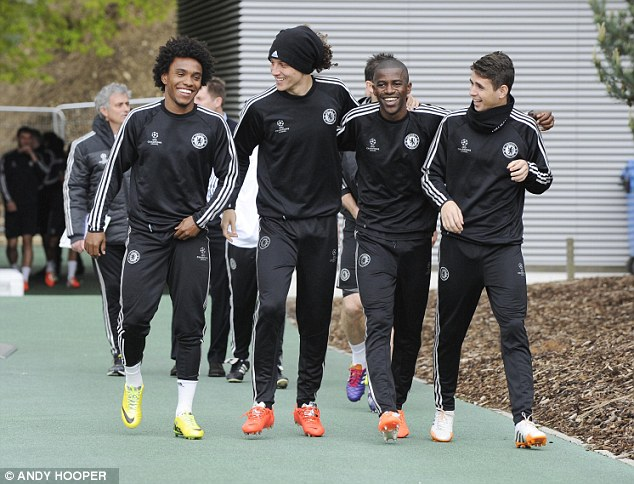 No worries: Chelsea's talented quartet of Brazilians will be lining up together again this summer