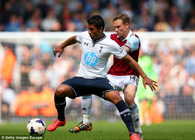 Out of touch: Paulinho hasn't been brilliant in the Premier League, but is a mainstay in the Brazil line-up