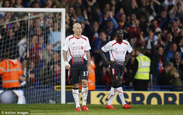 Unstable: Liverpool's defending has not been good enough this season, in particular against Crystal Palace
