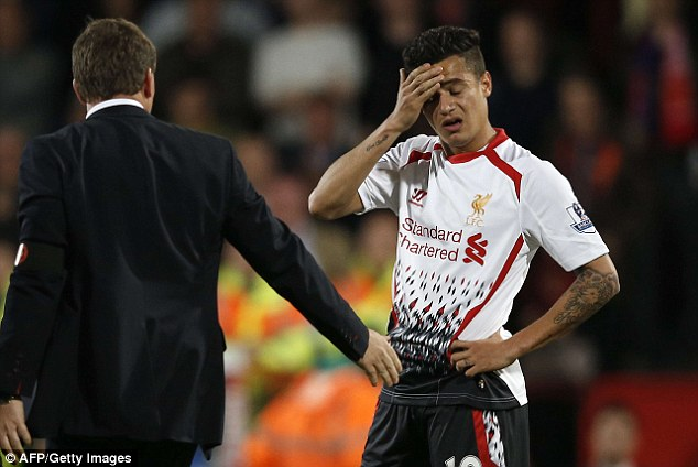 Heartbreak: But Rodgers is convinced he has built solid foundations at Liverpool