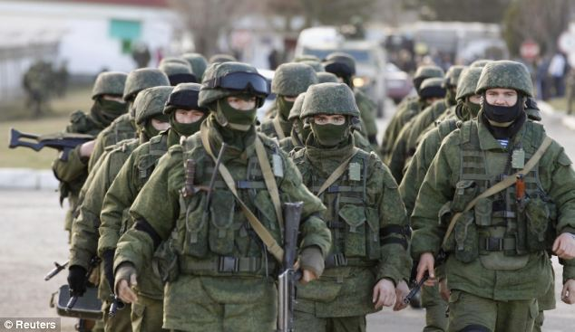 Russia seized control of the Ukrainian province of Crimea in March and has since been accused of stirring up anti-Western sentiment in the east of the country (file pic)