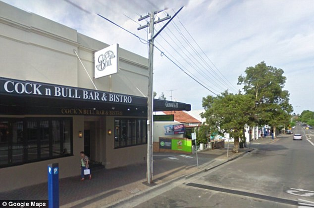 Last sighting: After disappearing from the street near the Cock'n'Bull Bar (above) in Sydney's Bondi Junction, Donie O'Sullivan stumbled down a stairwell just metres from the bar and lay there injured for five days