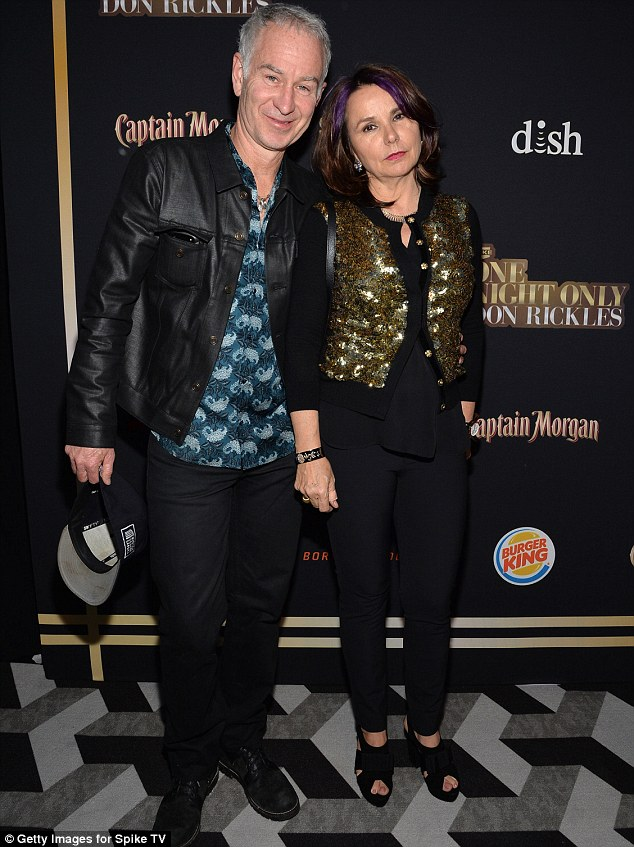 Going strong: Tennis legend John McEnroe and musician Patty Smyth attended the tribute together