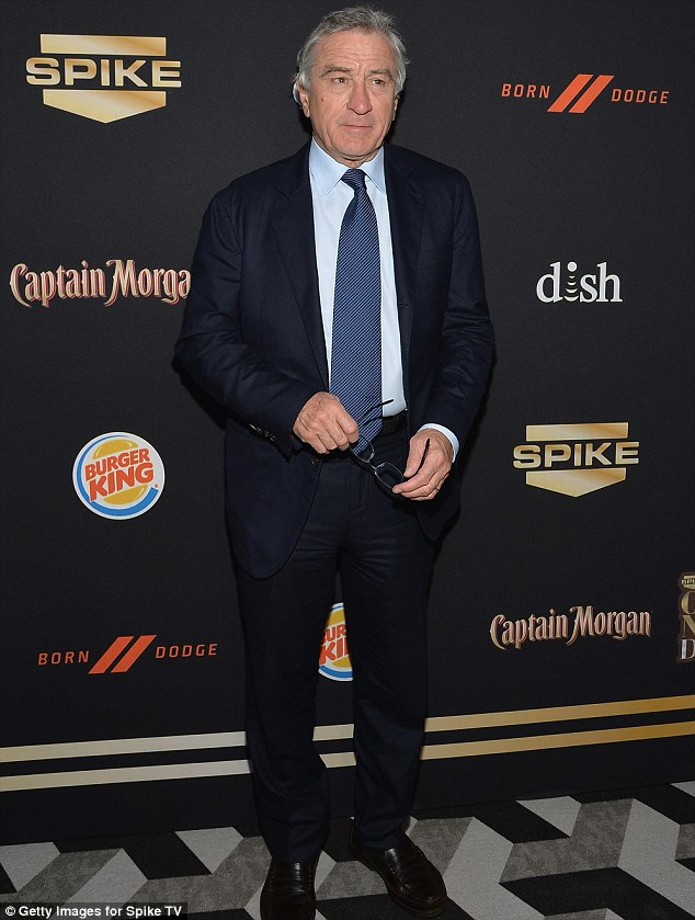 Paying tribute: Robert De Niro joined the many stars who came out to pay tribute to legendary comedian Don Rickles