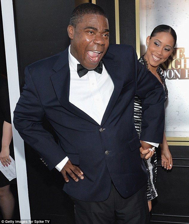 Funny guy: Tracy Morgan struck a pose on Tuesday night as he attended Spike TV's Don Rickles: One Night Only tribute in New York City
