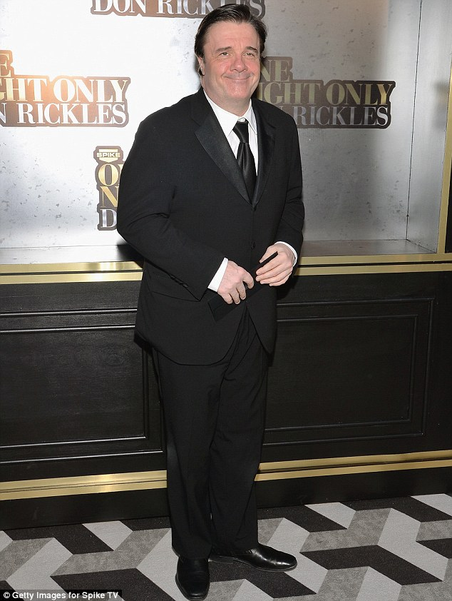 Another funny guy: Nathan Lane looked dapper in a black suit and tie at the affair