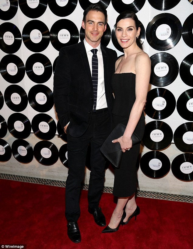 The Good Wife! Julianna took husband of six-and-a-half years Keith Lieberthal as her date, who certainly didn't let the side down in his smart black suit, dress shoes, crisp white shirt and black tie with thin white horizontal striped pattern