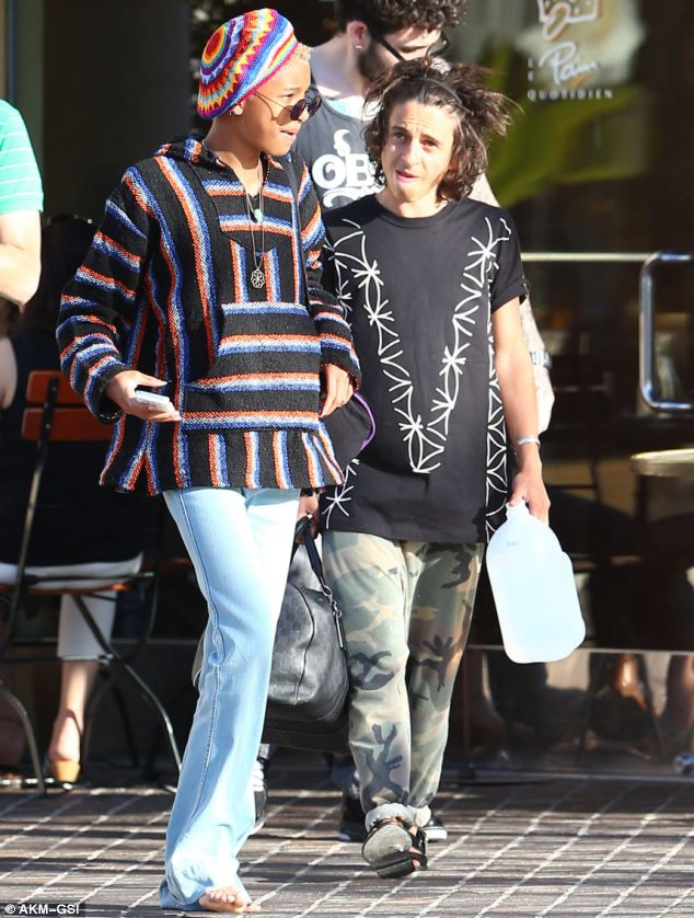 Pals: Willow and Moises were recently seen out and about at Le Pain Quotidien in Calabasas
