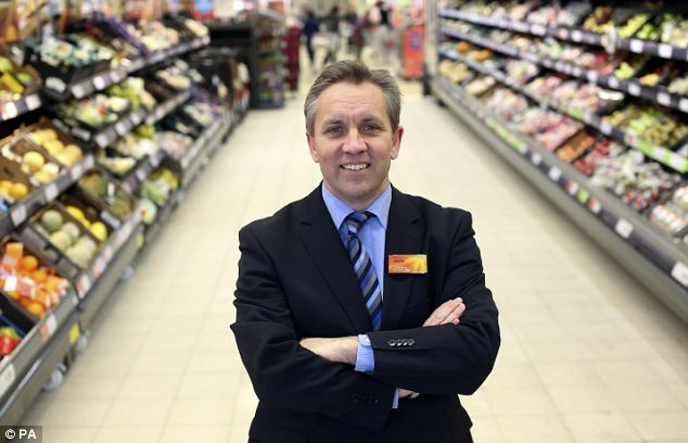 Supermarket King: Sainsbury's outgoing chief executive Justin King announced a ninth year in a row of growth, with a 5.3 per cent rise in underlying profits to £798million.