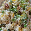This vegetable egg-fried rice with chorizo cost Kate just £1 for 4 portions