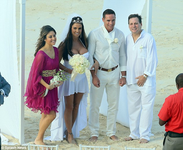 Jane Pountney (left) has admitted to an affair with her best friend Katie Price's (centre) husband, Kieran Hayler (second right), - Jane's husband Derrick is pictured right