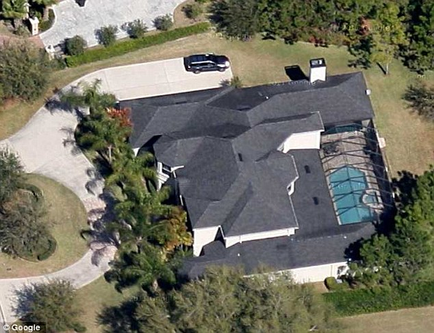 Rented: The mansion, in Avila, Tampa, pictured, was reportedly being rented out at the time of the fire