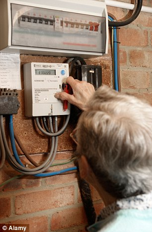 Worrying: Labour claims some families on prepayment meters are being cut off 'by the back door'