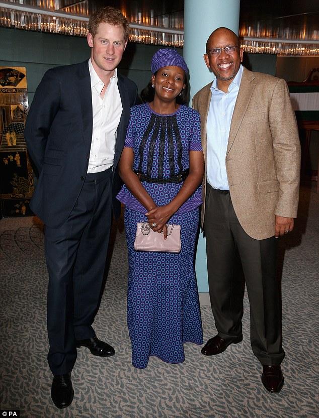 Prince Harry, Princess Mabereng and Sentebale founding patron Prince Seeiso Bereng Seeiso