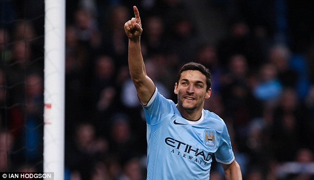 Debut: Jesus Navas has picked up four goals during his first season in English football