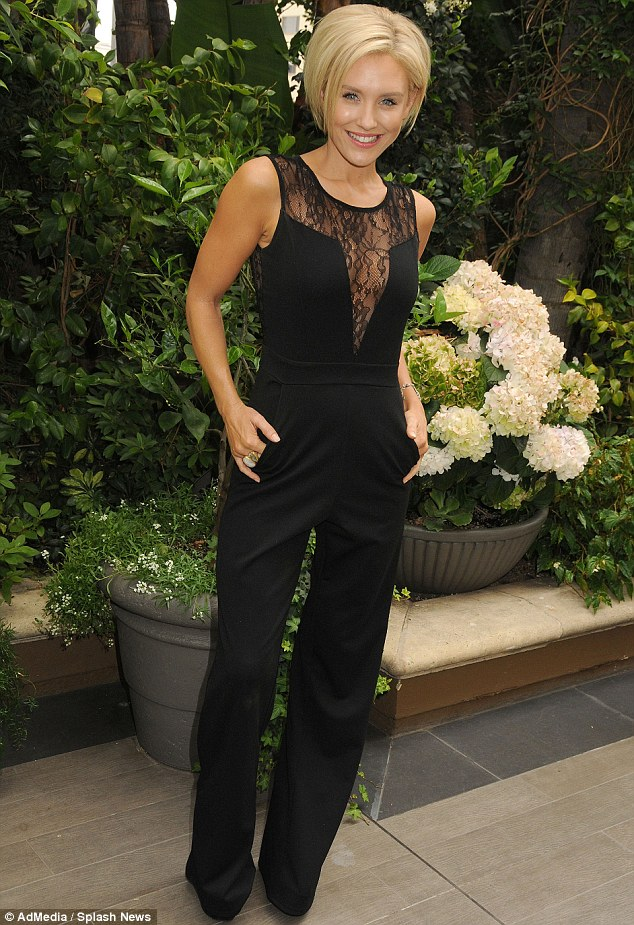 Simply stunning: Last week Nicky was seen without the One Tree Hill star as she looked elegant in a low-cut playsuit at a luncheon in aid of cancer at the Four Seasons Hotel in Beverly Hills
