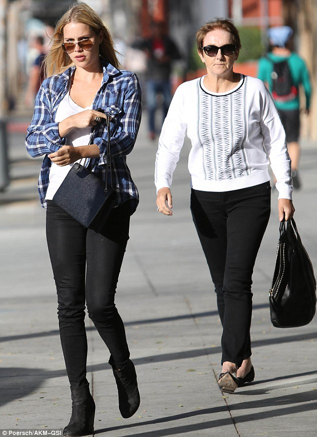 Just mum and me! Australian actress Claire Holt was seen enjoying a lunch date with her mother in West Hollywood on Wednesday