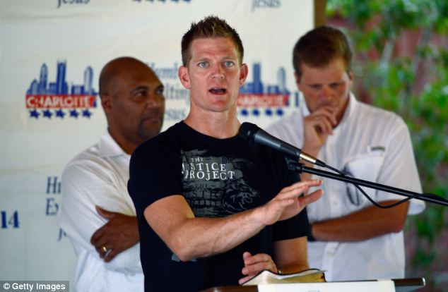 In 2012 David Benham led a prayer rally outside of the Democratic National Convention in Charlotte, NC, and spoke out against 'homosexuality and its agenda that is attacking the nation'
