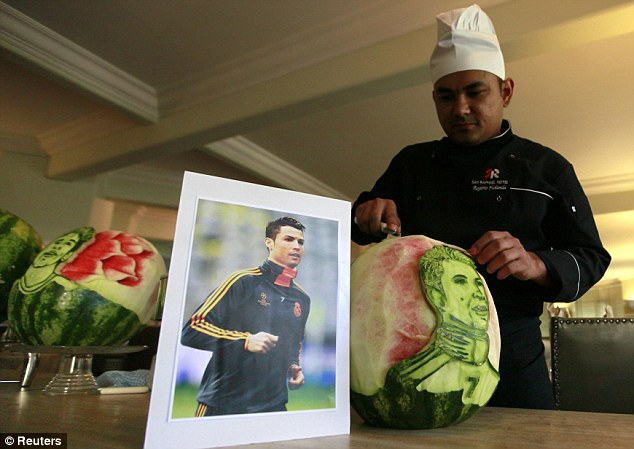 Twisting his melon: The talented chef works at the San Raphael hotel in Sao Paulo
