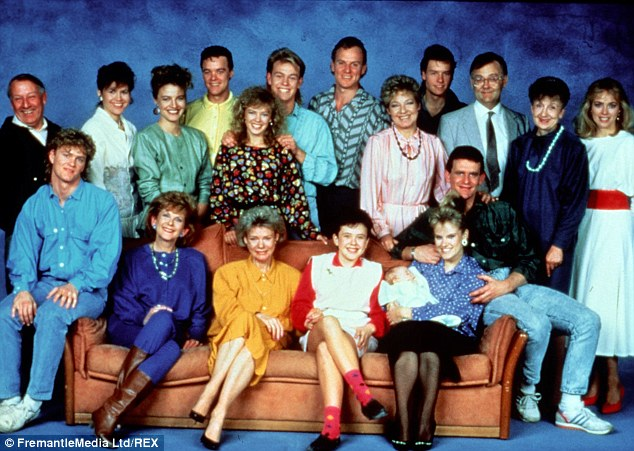 Turbulence: The walk-off would be the first time industrial action was taken on the show in 25 years. Pictured is the original cast of the show, which began in 1985
