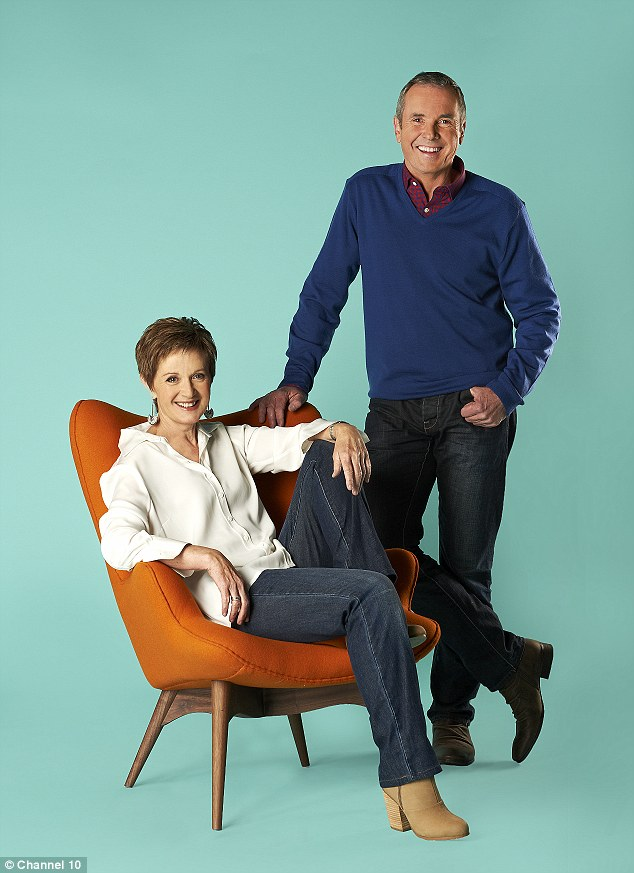 Stars are staying put: Alan Fletcher, who plays Karl Kennedy on the show and is pictured here with Jackie Woodburne who plays Susan Kennedy, is the representative for the cast union and said the stars of the show won't be walking out with the crew