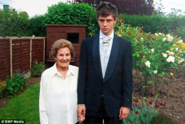 Mrs James, left, died on January 22 last year after being treated at the hospital for three weeks. She is pictured above with her grandson Sam James in 2009.