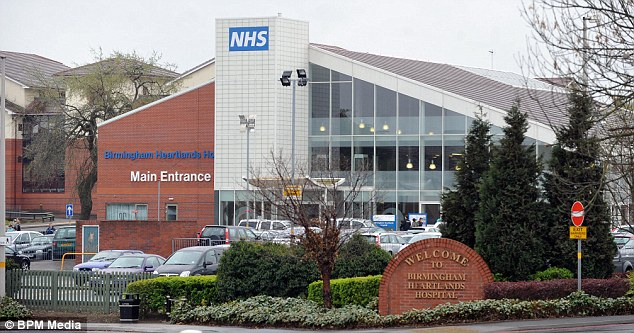 Heartlands in Birmingham said it could not comment on the case for 'legal and confidentiality reasons'