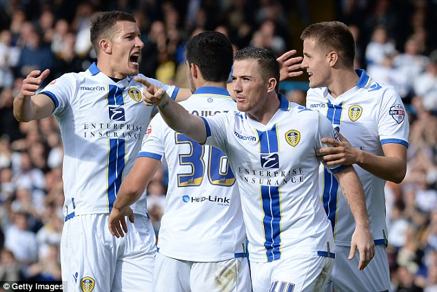 Star striker: Leeds marksman Ross McCormack (front) is hot property this summer after plundering 29 goals