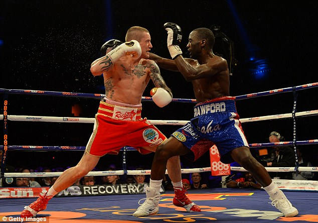 Big Blow: Burns was well beaten by Crawford back in March