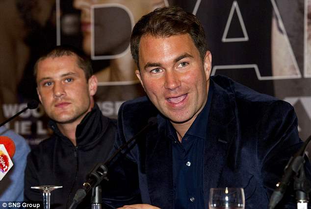 Warning: Promoter Eddie Hearn has warned it's crunch time for Burns