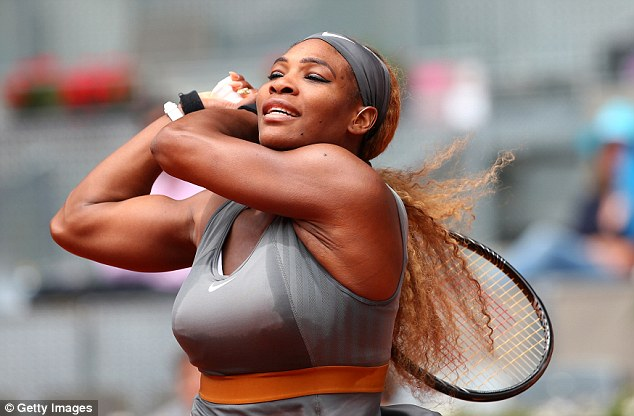 Dominant: Serena Williams progressed to the last eight in the Spanish capital with her 650th career victory