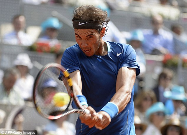 Up and down: Nadal is still searching for his usual consistency on clay as the French Open approaches