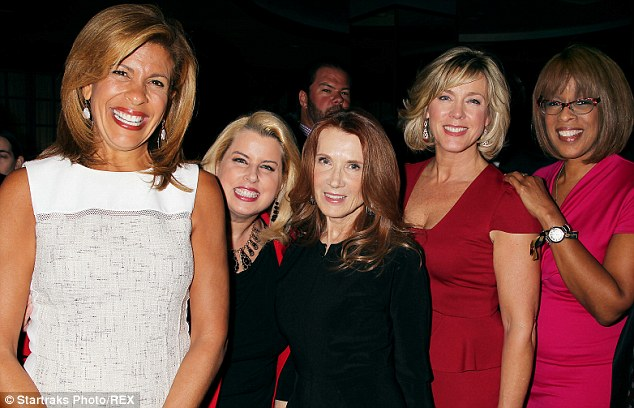 Ladies night: Hoda Kotb got a chance to catch up with, L to R, Rita Cosby, Linda Cobb Bruckheimer, Deborah Norville and Gayle King